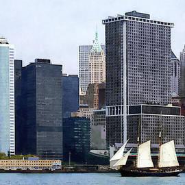 Susan Savad - Boats - Schooner Against the Manhattan Skyline