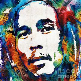 Sharon Cummings - Bob Marley Tribute 2 - Reggae Music Art By Sharon Cummings