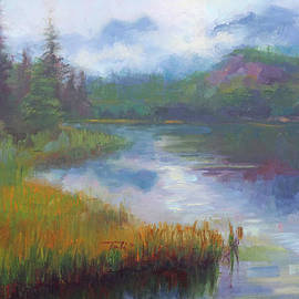 Talya Johnson - Bonnie Lake - Alaska misty landscape