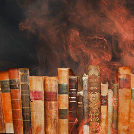 John Haldane - Book Burning Inspired by Fahrenheit 451