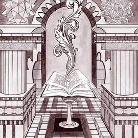 Eric David - Book of Hours study for Elemental Mandala