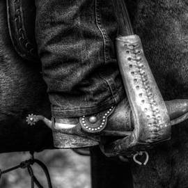 Greg and Chrystal Mimbs - Boot and Saddle in Black and White