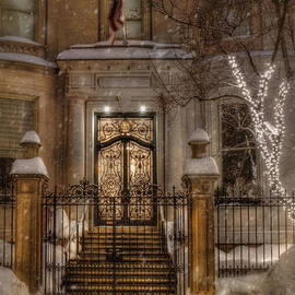 Joann Vitali - Boston Doorway in Snow - Back Bay