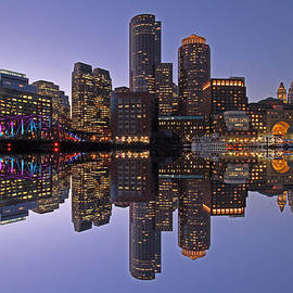 Juergen Roth - Boston Downtown Harbor Reflection