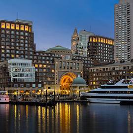 Susan Candelario - Boston Harbor Skyline