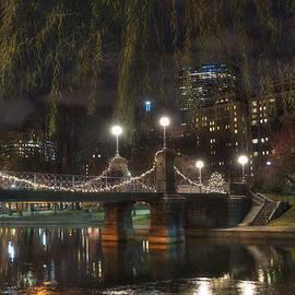 Joann Vitali - Boston Public Garden and Lagoon Bridge at Night