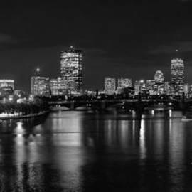 Joann Vitali - Boston Skyline - Black and White
