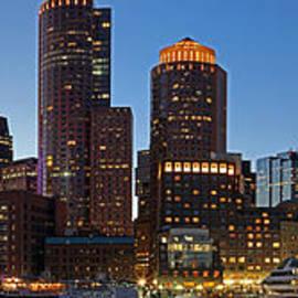 Juergen Roth - Boston Skyline Night Panorama