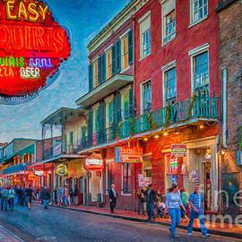 Kathleen K Parker - Bourbon Street Evening - Digital Art