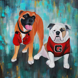Lauren Hammack - Boxer and Bulldog Portrait