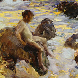 Joaquin Sorolla y Bastida - Boy In The Breakers