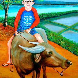 Lorna Maza - Boy Riding A Carabao