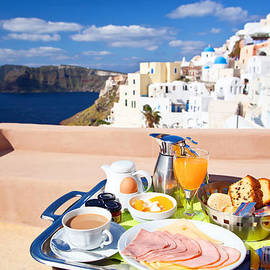 Aiolos Greek Collections - Breakfast at terrace