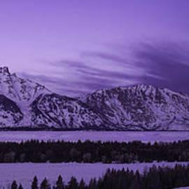 Feryal Faye Berber - Winter Landscape- Grand Tetons at Dawn