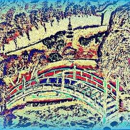 Irving Starr - Bridge in a Garden Blue Fantacy