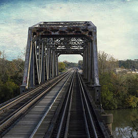 Thomas Woolworth - Bridge On The Metra Sws Line Blue Sky Textured