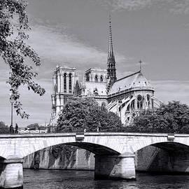 Allen Beatty - Bridge Over the Seine-Black and White