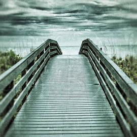 Birgit Tyrrell - Bridge to Beach with Ominous Clouds