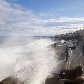 Chris Smith - Bridlington promenade stormy seas