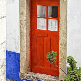 David Letts - Bright Red Wood Door of Portugal