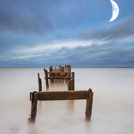 English Landscapes - Broken Jetty Moon