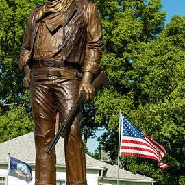 Robert Ford - Bronze Statue of John Wayne Actor in Birthplace of Winterset Madison County Iowa