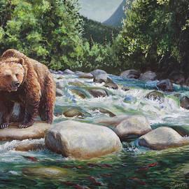 Karen Whitworth - Brown Bear On The Little Susitna River
