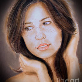 Jim Fitzpatrick - Brown Haired and Lightly Freckled Beauty Fade to Black Version