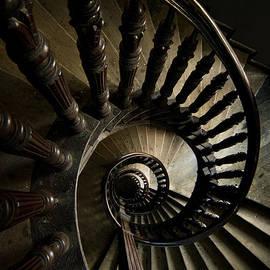 Jaroslaw Blaminsky - Brown wooden spiral staircase