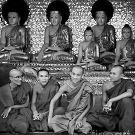 Jennie Breeze - Buddhas and Monks in Burma..BW