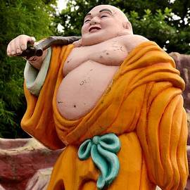 Buddhist monk on journey