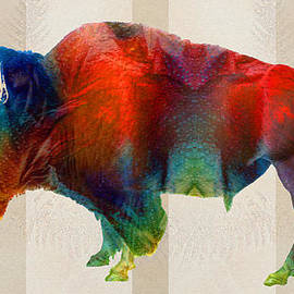 Sharon Cummings - Buffalo Animal Print - Wild Bill - By Sharon Cummings