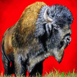 Teshia Art - Buffalo Warrior