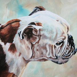 Lillian  Bell - Bull dog portrait