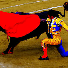 Bruce Nutting - Bullfighter in Water Color