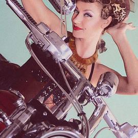Mary AD Art - Burlesque Biker -portrait