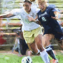 David Haskett - Butler University IUPUI Soccer Futbol Digital Painting