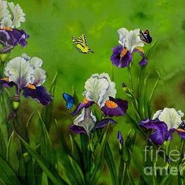 Carol Avants - Butterflies in the Iris