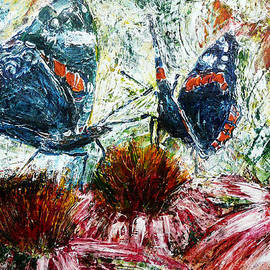 Florin Birjoveanu - Butterflies On A Flowering Shrub