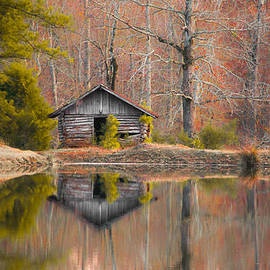 Shelby  Young - Cabin by the Lake in Autumn