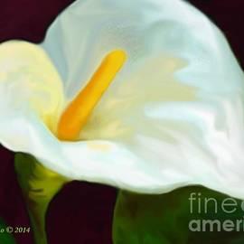 Annie Zeno - Calla Lily Painting