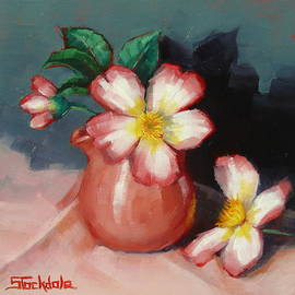 Margaret Stockdale - Camellias And Chinese Tea Jug