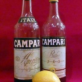 Campari with Lemon Still Life