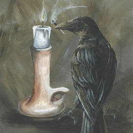 Christine StPierre - Candle and Crow