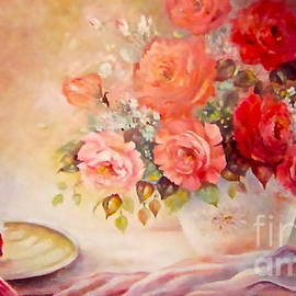 Patricia Schneider Mitchell - Candlelight Roses and Hat