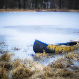 Alex Potemkin - Canoe at the frozen lake