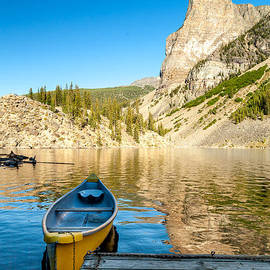 Art Calapatia - Canoe on Moraine Lake located in Banff Alberta