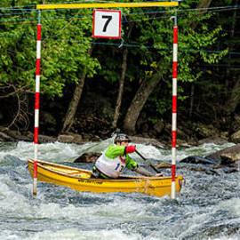 Les Palenik - Canoe paddler in gate 7