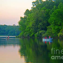 Tina M Wenger - Canoeing at the Lake