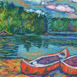 Kendall Kessler - Canoes at Mountain Lake Sketch